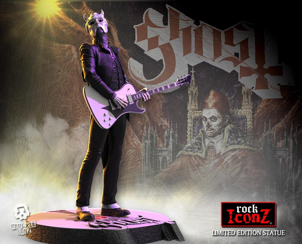 Knucklebonz - Knucklebonz - Ghost - Nameless Ghoul (White Guitar) Iconz Statue