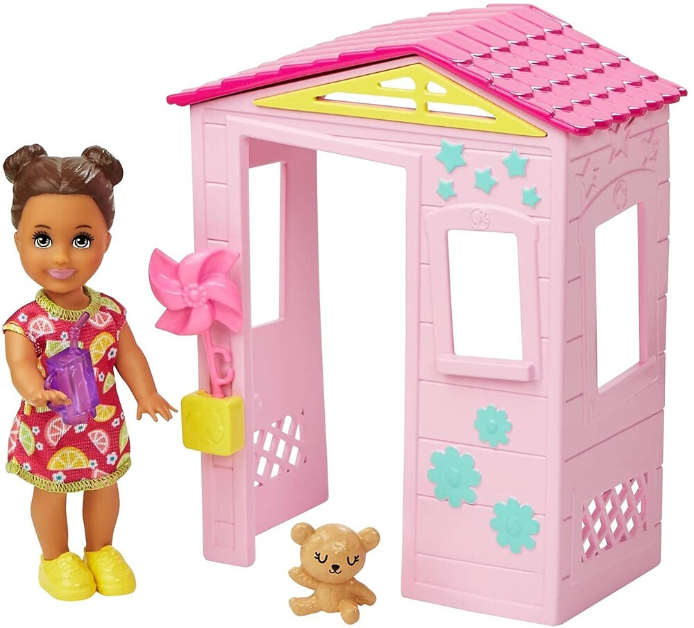 - Mattel - Barbie Skipper Babysitters Inc. Toddler Girl Doll and Playhouse Playset