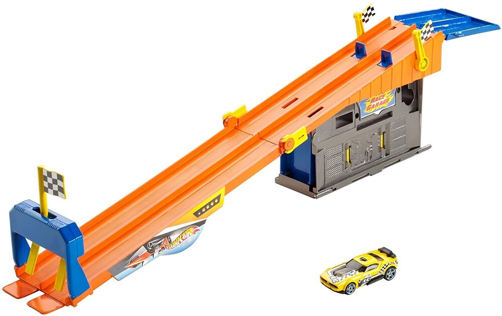 - Mattel - Hot Wheels Rooftop Race Garage Play Set