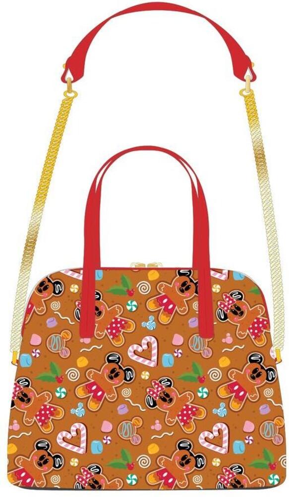 Loungefly Disney: - Seasonal Ginger Bread Aop Crossbody Bag (Back)