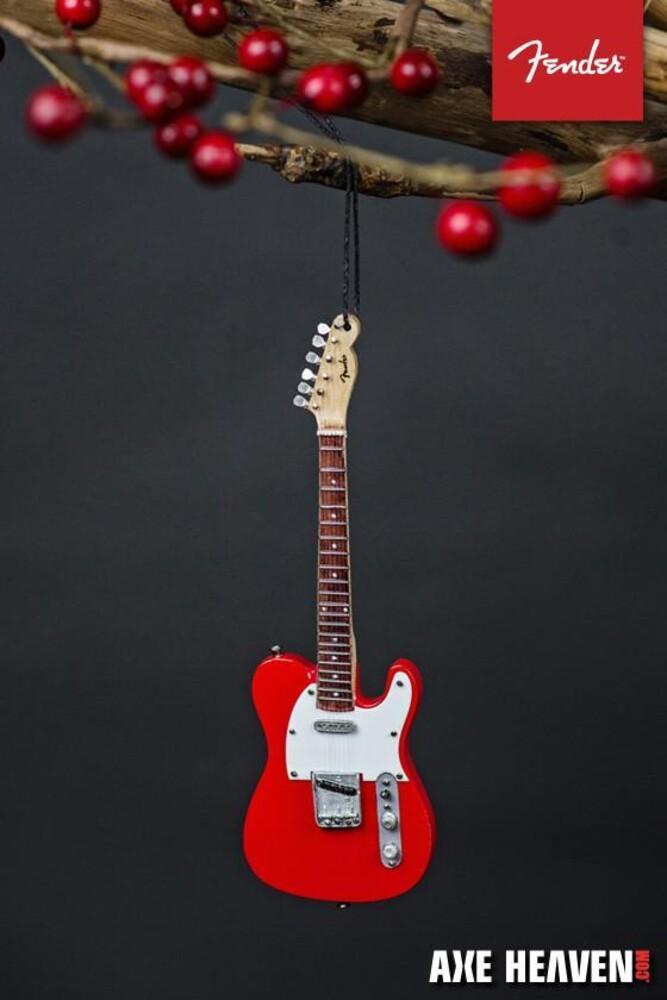 Fender Red Telecaster 6 Inch Guitar Ornament - Fender Red Telecaster 6 Inch Guitar Ornament