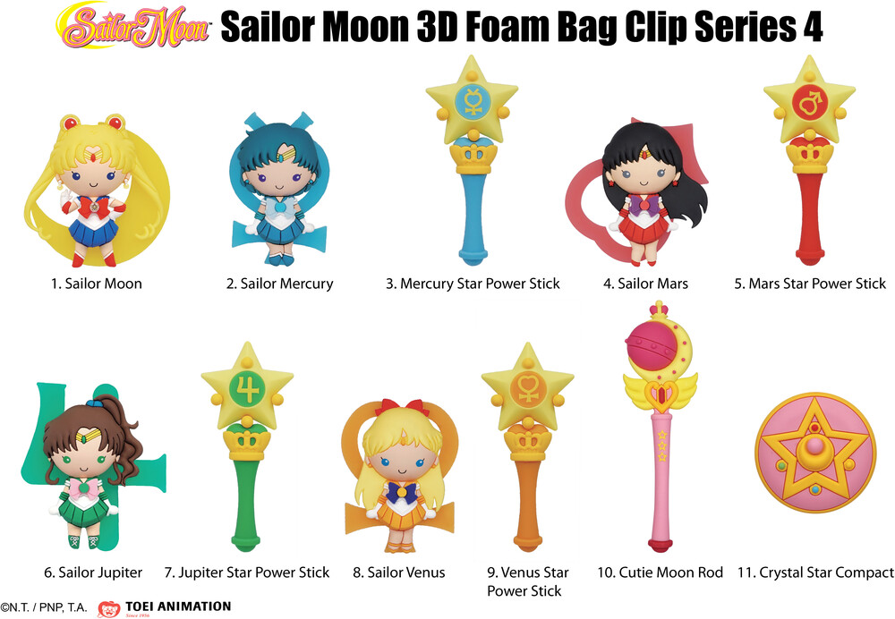 Sailor Moon Series 4 3D Foam Bag Clip in Blind Bag - Sailor Moon Series 4 - 3D Foam Bag Clip in Blind Bag (SINGLE)