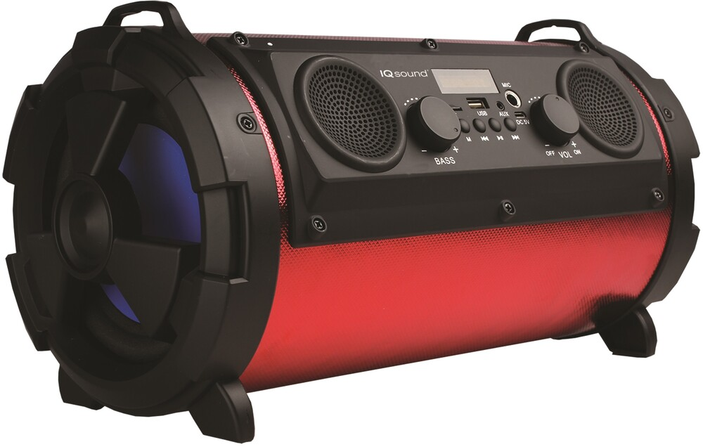 Supersonic Iq1525Btbk Bt Speaker 16W Fm Radio Red - Super Sonic IQ-1525BT-BK Bluetooth Wireless Portable Speaker 16 WattsRechargeable with FM Radio USB Micro SD Inputs (Red)