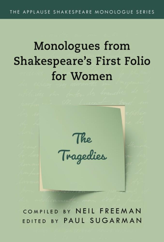 Neil Freeman - Shakespeares Monologues For Women The Tragedies