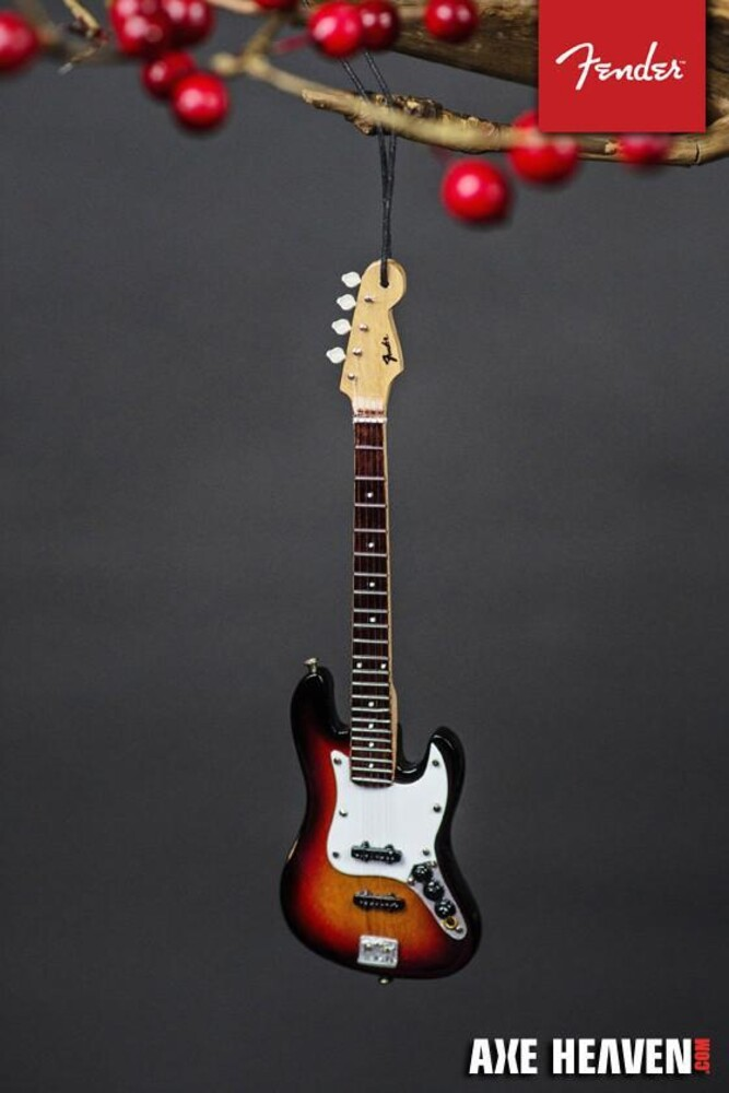 Fender Sunburst Jazz 6 Inch Bass Guitar Ornament - Fender Sunburst Jazz 6 Inch Bass Guitar Ornament