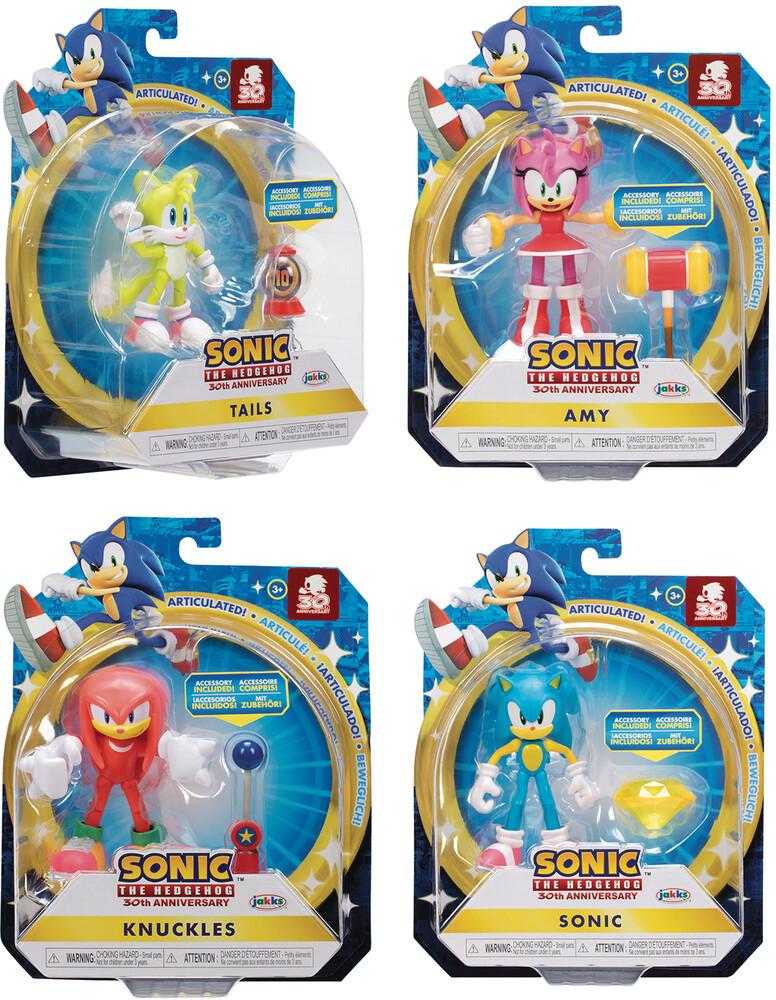 Jakks Pacific - Sonic The Hedgehog 4in Articulated Af Wv6 Asst (Ne