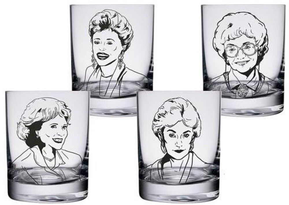 Golden Girls Quotes 10 Oz. Glass Set of 4 - Golden Girls Quotes 10 Oz. Glass Set Of 4