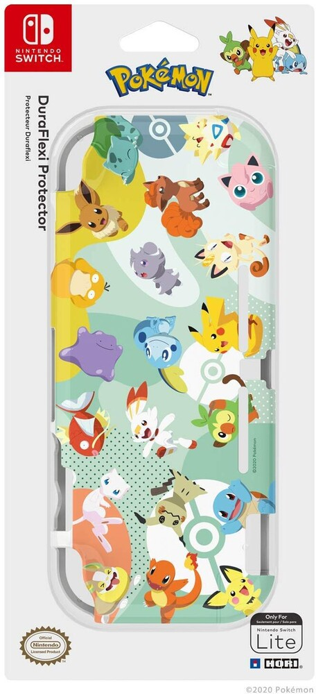 Hori Swi Lite Duraflexi - Pikachu & Friends - HORI Duraflexi Protector (Pikachu & Friends) for Nintendo Switch Lite