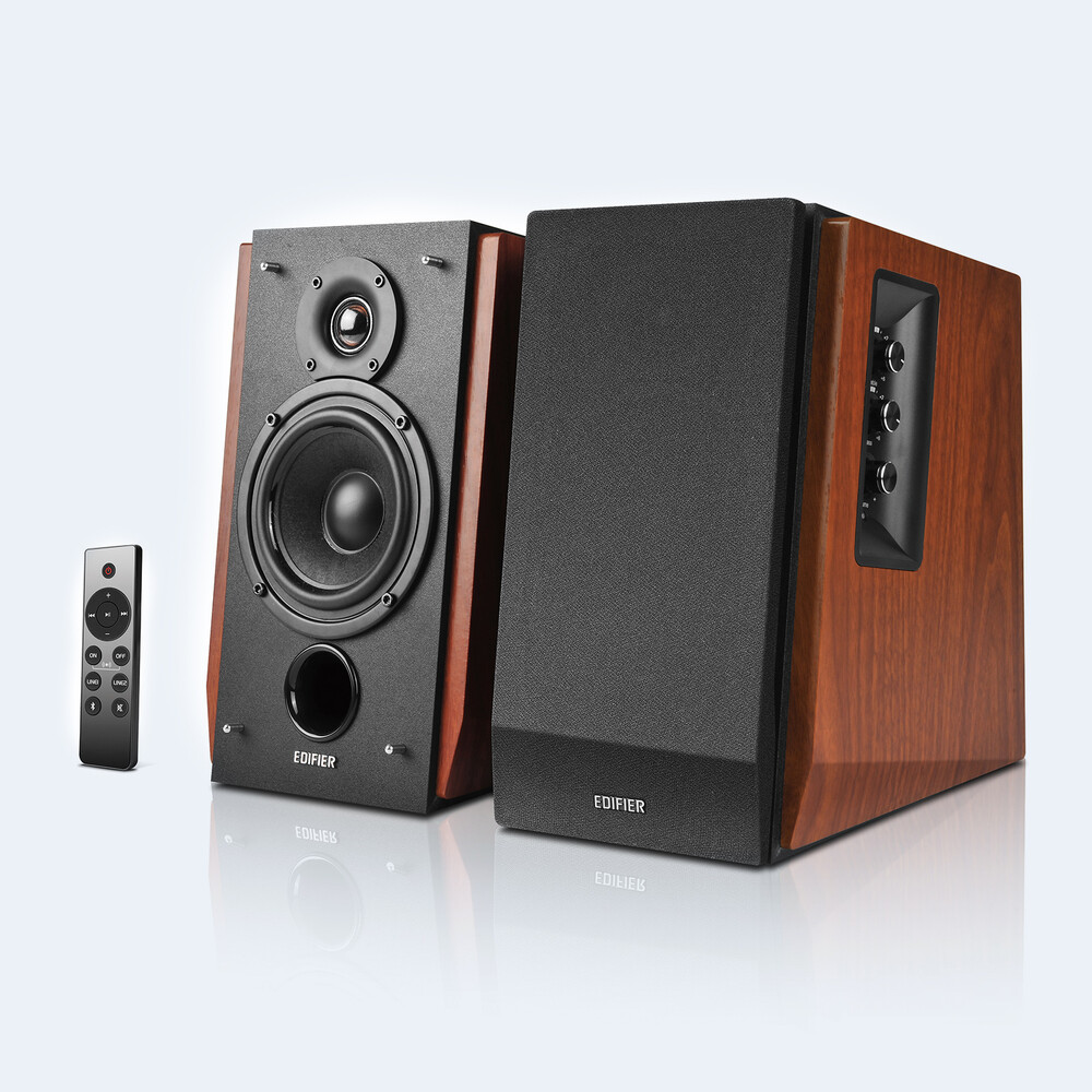 - Edifier 4004971 R1700BTs Powered Bluetooth 5.0 Wireless Bookshelf Speakers Pair 66 Watts With Built in Amp and Multi Inputs Incl