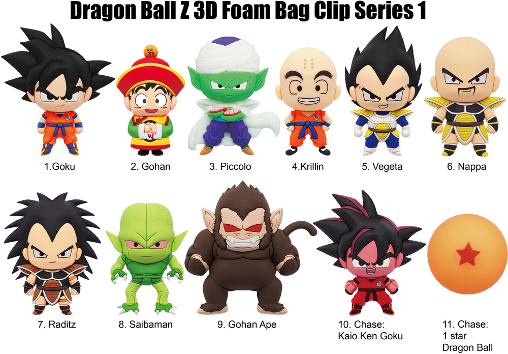 Dragon Ball Z S1 - 3D Foam Bag Clip in Blind Bag - Dragon Ball Z Series 1 - 3D Foam Bag Clip in Blind Bag (SINGLE)
