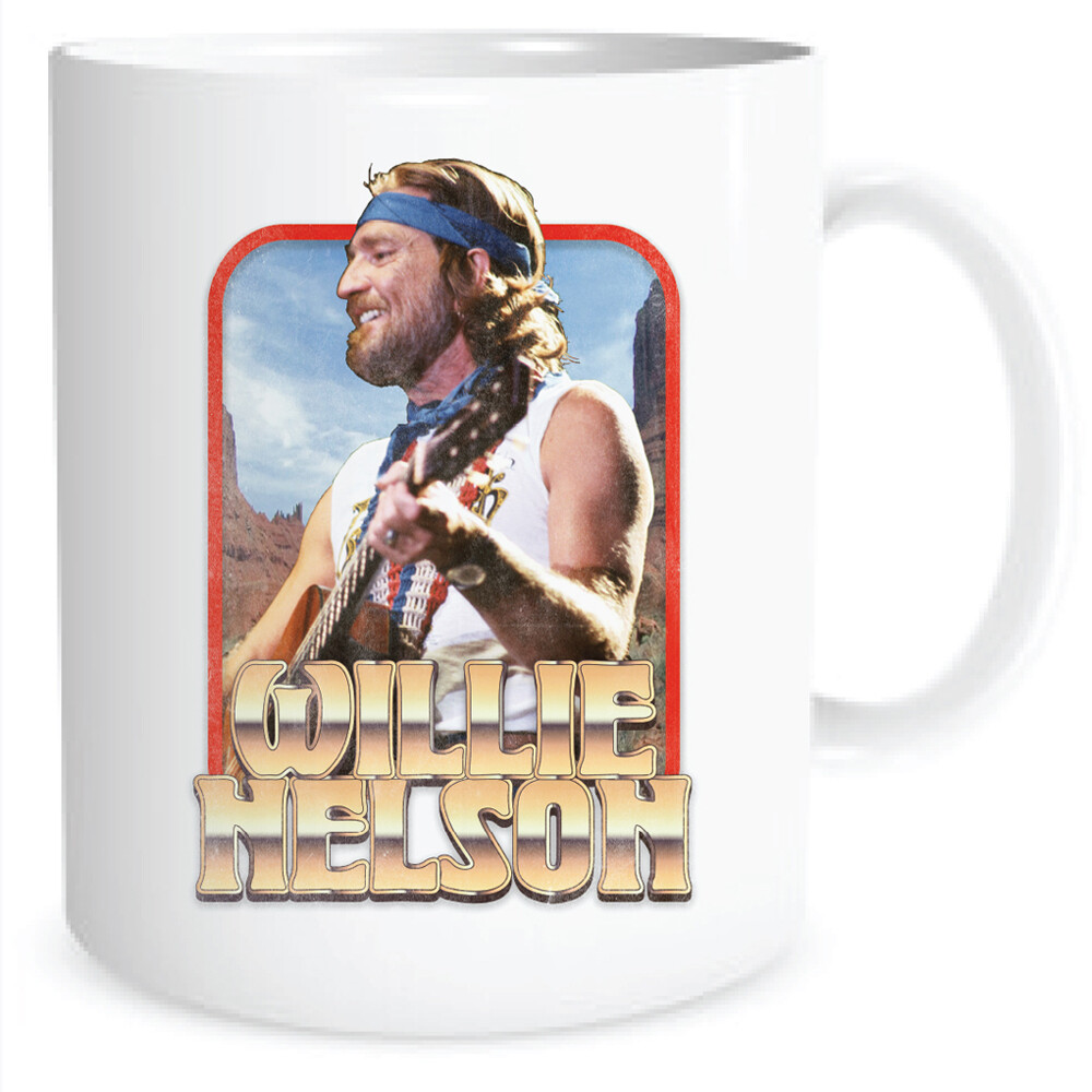 Willie Nelson Vintage White Gold 16 Oz Coffee Mug - Willie Nelson Vintage White Gold 16 Oz Coffee Mug