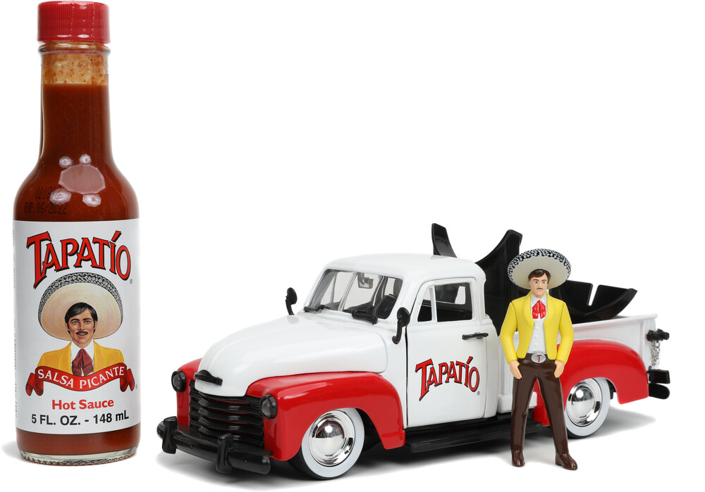- Jada 1:24 Diecast 1953 Chevy Pickup With Tapatio Bottle Holder &Figure