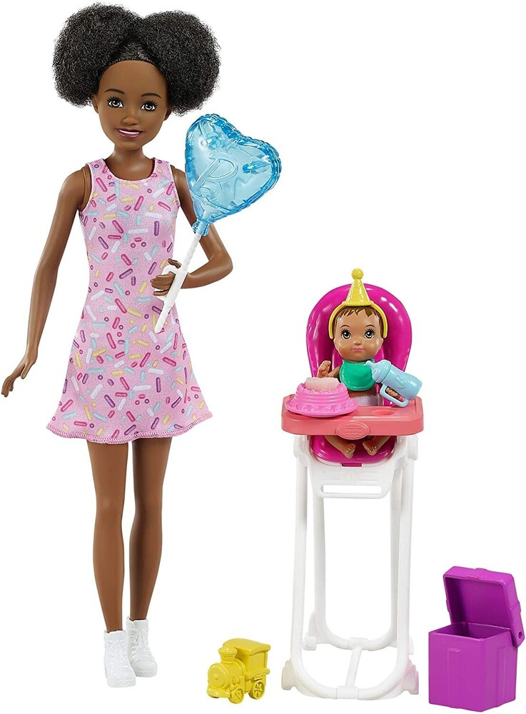 - Mattel - Barbie Skipper Babysitters Inc. Dolls & Party Playset, African American