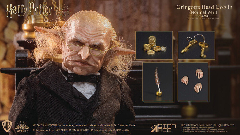 - Harry Potter Gringotts Head Goblin 1/6 Af (Afig)