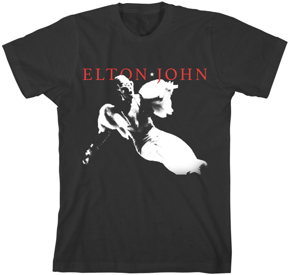 Elton John - Elton John Homage 5 Black Unisex Short Sleeve T-shirt 2XL