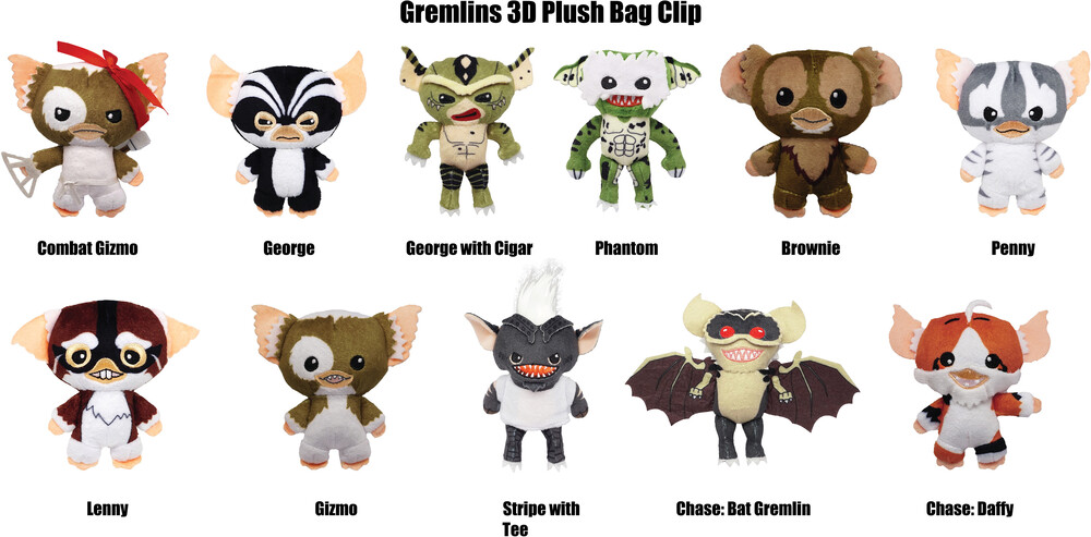 Gremlins Plush Bag Clip in Blind Bag - Gremlins Plush Bag Clip in Blind Bag