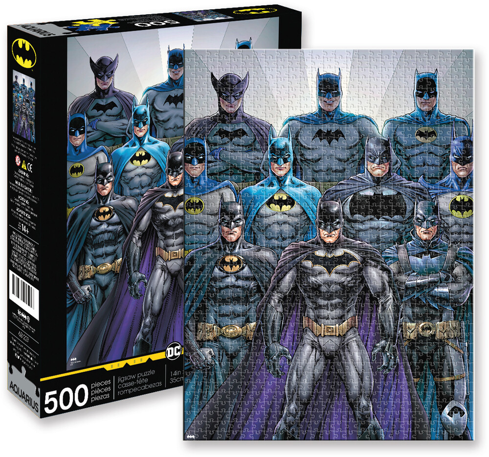 Dc Comics Batman Batsuits 500 PC Jigsaw Puzzle - DC Comics Batman Batsuits 500 Pc Jigsaw Puzzle