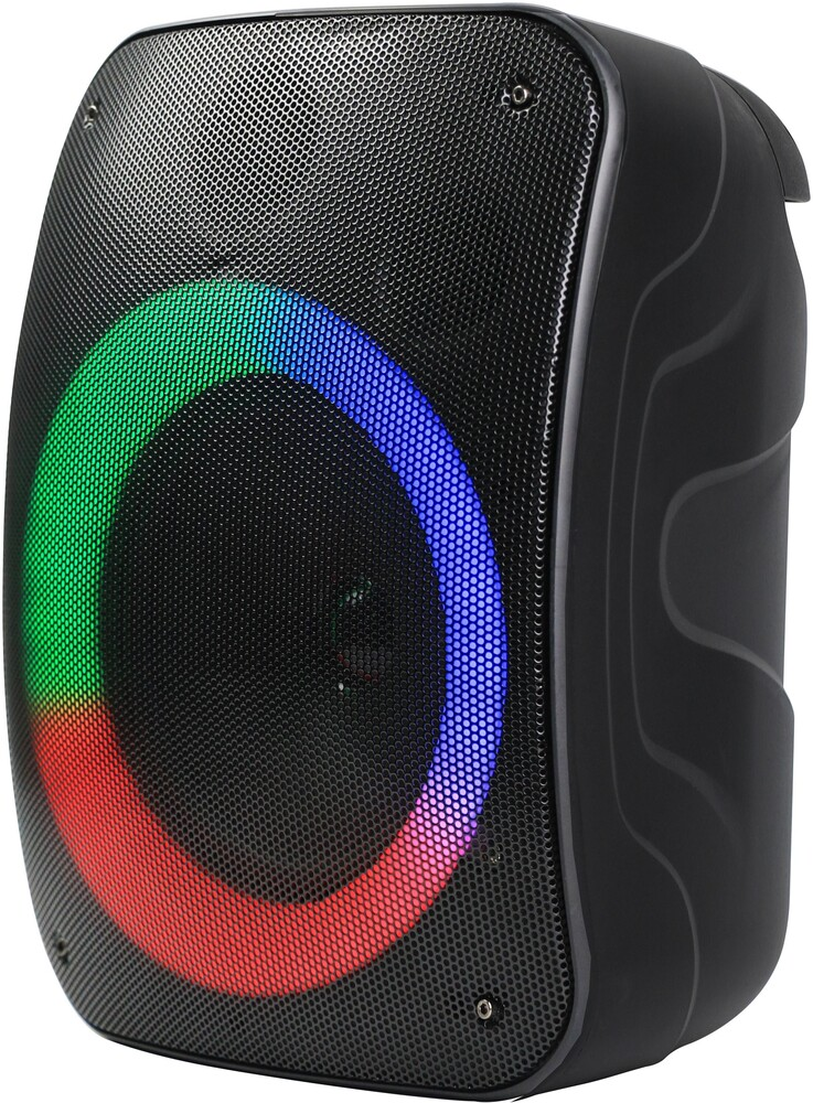Supersonic Iq1965Bt Bt 6.5in Tws Speaker 10W Blk - Supersonic IQ-1965BT Bluetooth Wireless 6.5 Inch True WirelessRechargable Speaker 10 Watts with LED Lights FM, Micro SD USB (Bla