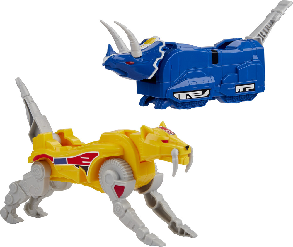 Prg Mmpr Triceratops Sabertoothed Tiger - Hasbro Collectibles - Power Rangers Triceratops Sabertoothed Tiger