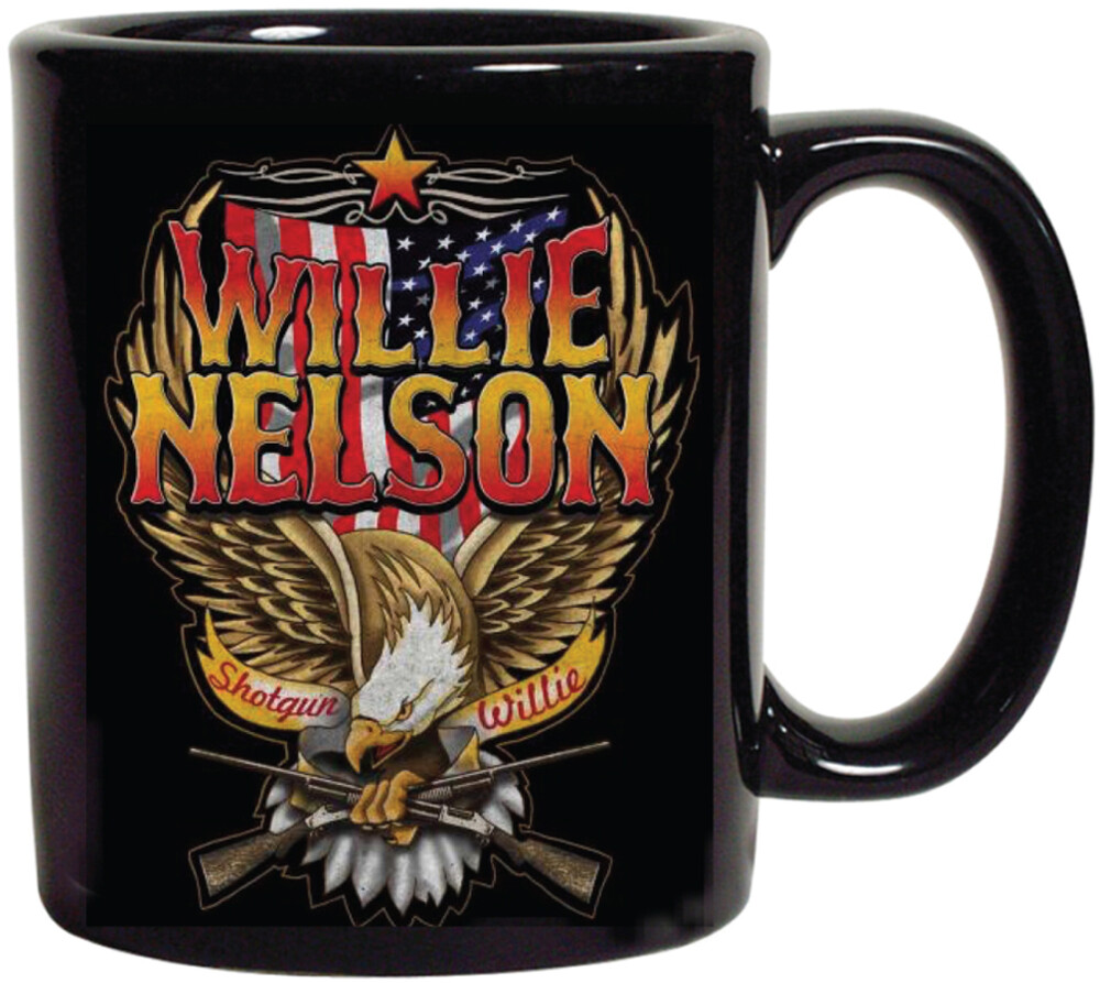 Willie Nelson Shotgun Willie Eagle 16Oz Coffee Mug - Willie Nelson Shotgun Willie Eagle 16 Oz Coffee Mug