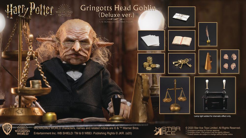 - Harry Potter Gringotts Head Goblin 1/6 Af Deluxe V