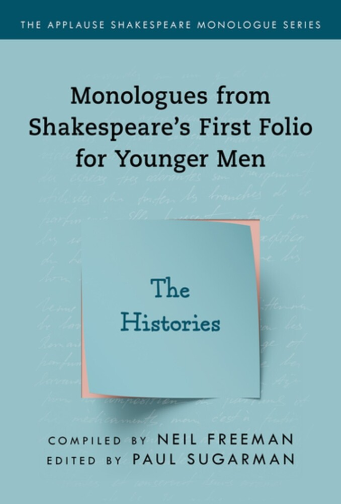 Neil Freeman - Shakespeares Monologues For Younger Men Histories
