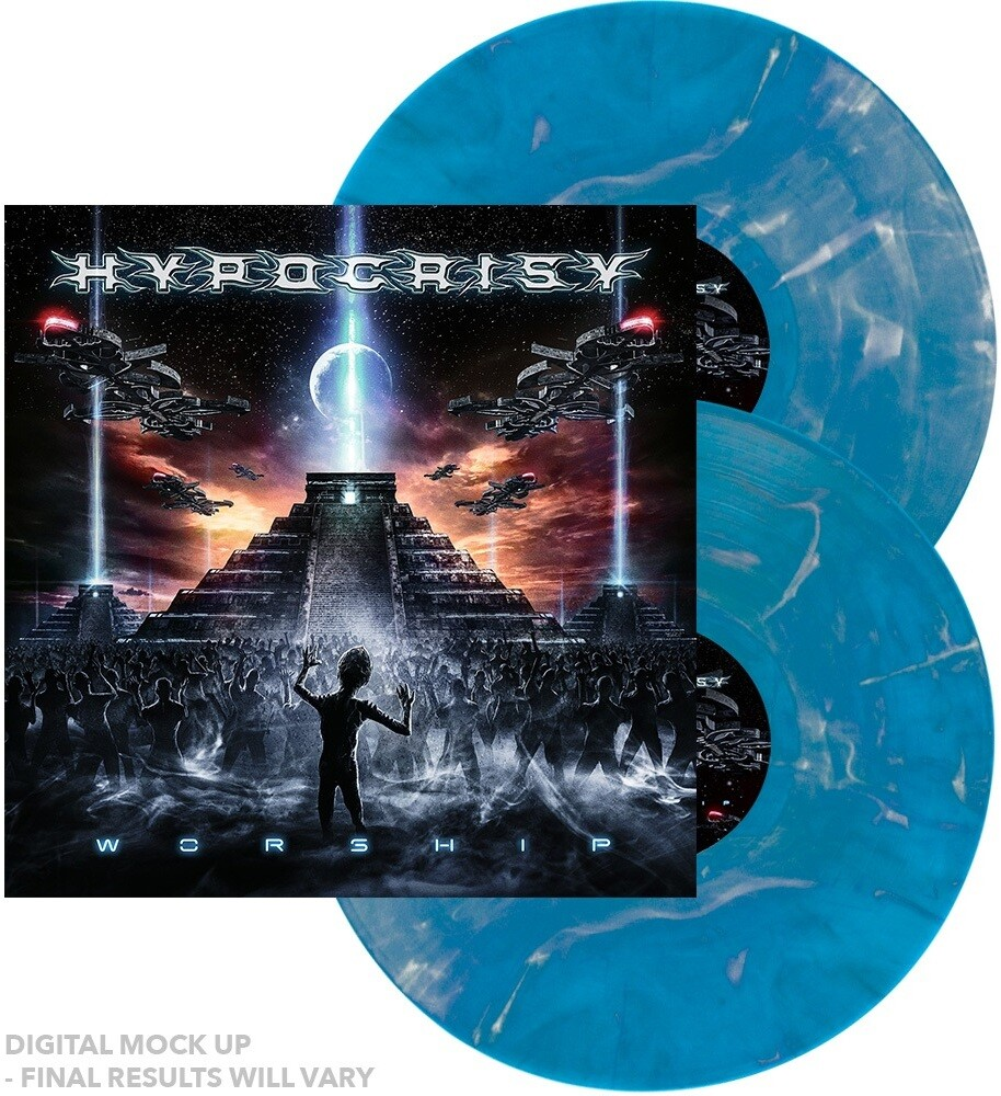 Hypocrisy - Worship [Indie Exclusive] (Blue & White Marble) (Blue) [Colored Vinyl]