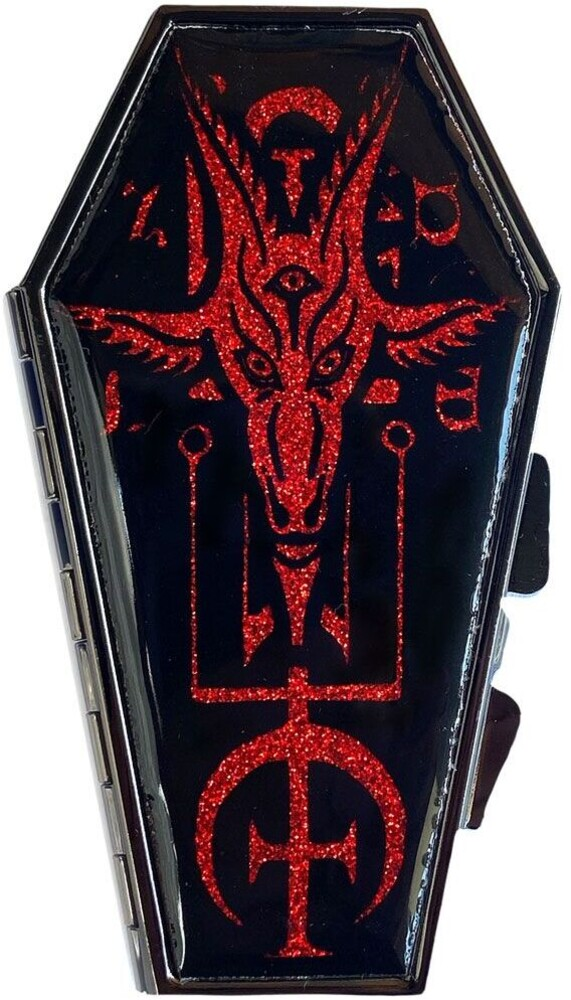 Baphomet Satanic Red Glitter Coffin Compact - Baphomet Satanic Red Glitter Coffin Compact (Clcb)