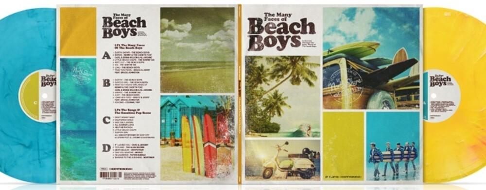 Many Faces Of The Beach Boys / Various - Many Faces Of The Beach Boys / Various (Ltd 180gm Gatefold Blue &Yellow Vinyl)