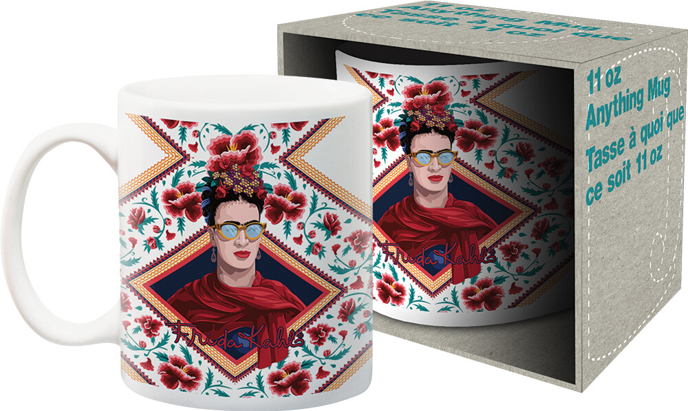 - Frida Kahlo Red Triangle Portrait 11oz Boxed Mug