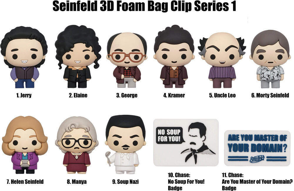 Seinfeld 3D Foam Bag Clip in Blind Bag - Seinfeld 3D Foam Bag Clip in Blind Bag (SINGLE)
