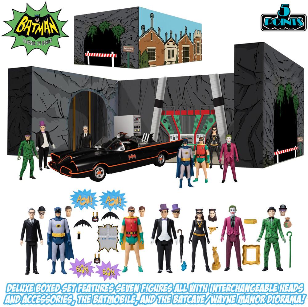 - Mezco - 5 Points Batman (1966): Deluxe Boxed Set