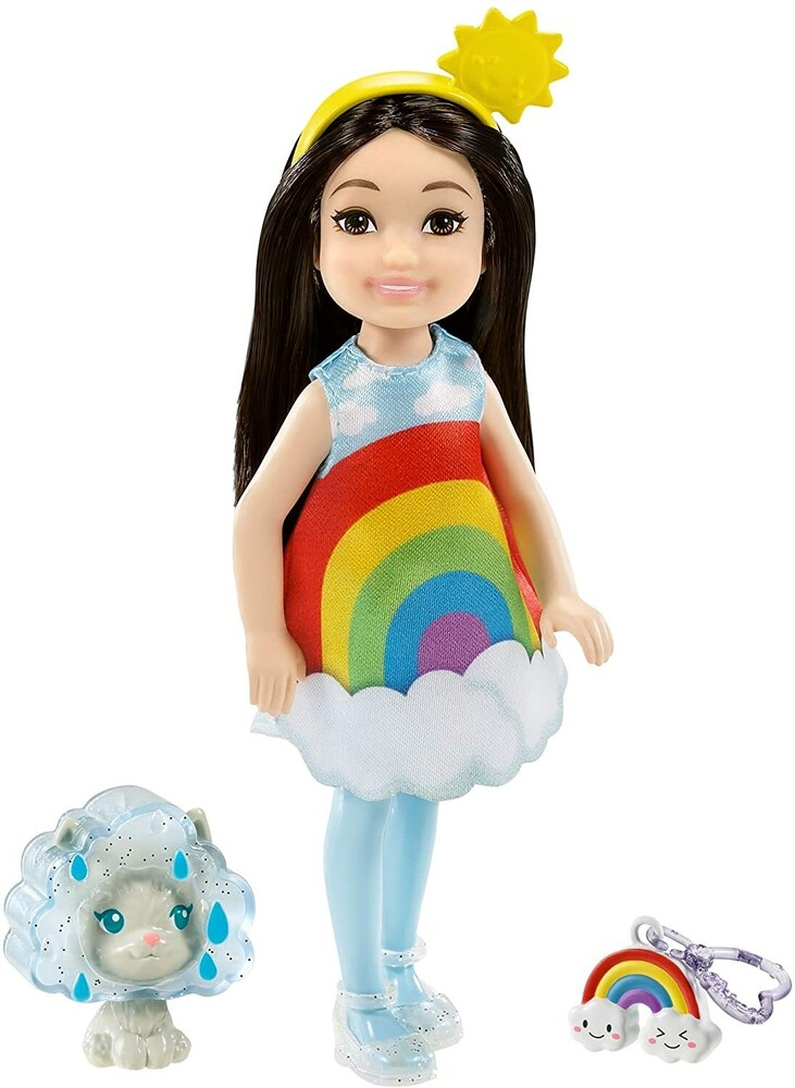 - Mattel - Barbie Club Chelsea, Rainbow Dress-Up Costume Doll with Pet
