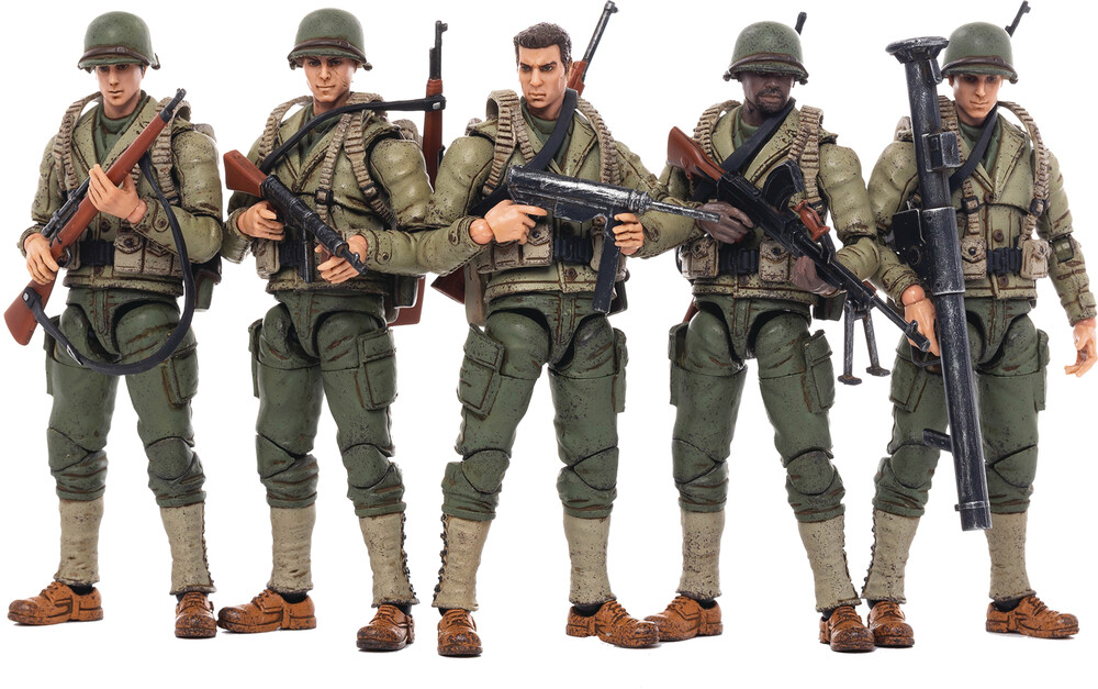 - Joy Toy Wwii U.S. Army 1/18 5pk (Clcb) (Fig)