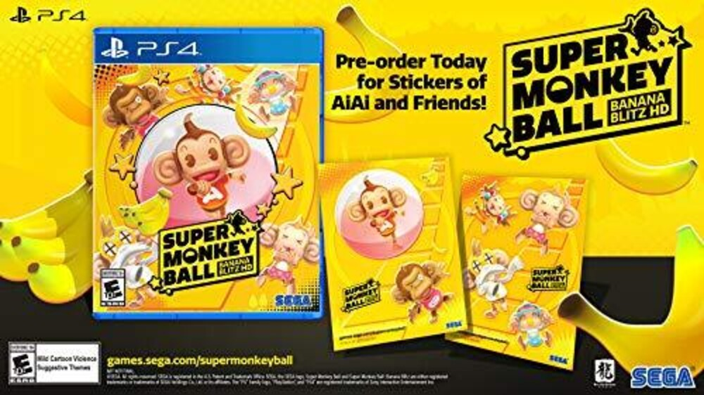 Ps4 Super Monkey Ball: Banana Blitz Hd - Super Monkey Ball: Banana Blitz Hd