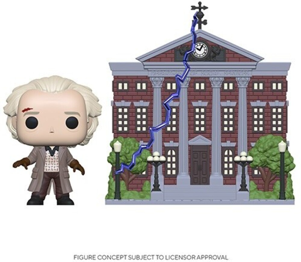 - FUNKO POP! TOWN: Back to the Future - Doc w/ Clock Tower