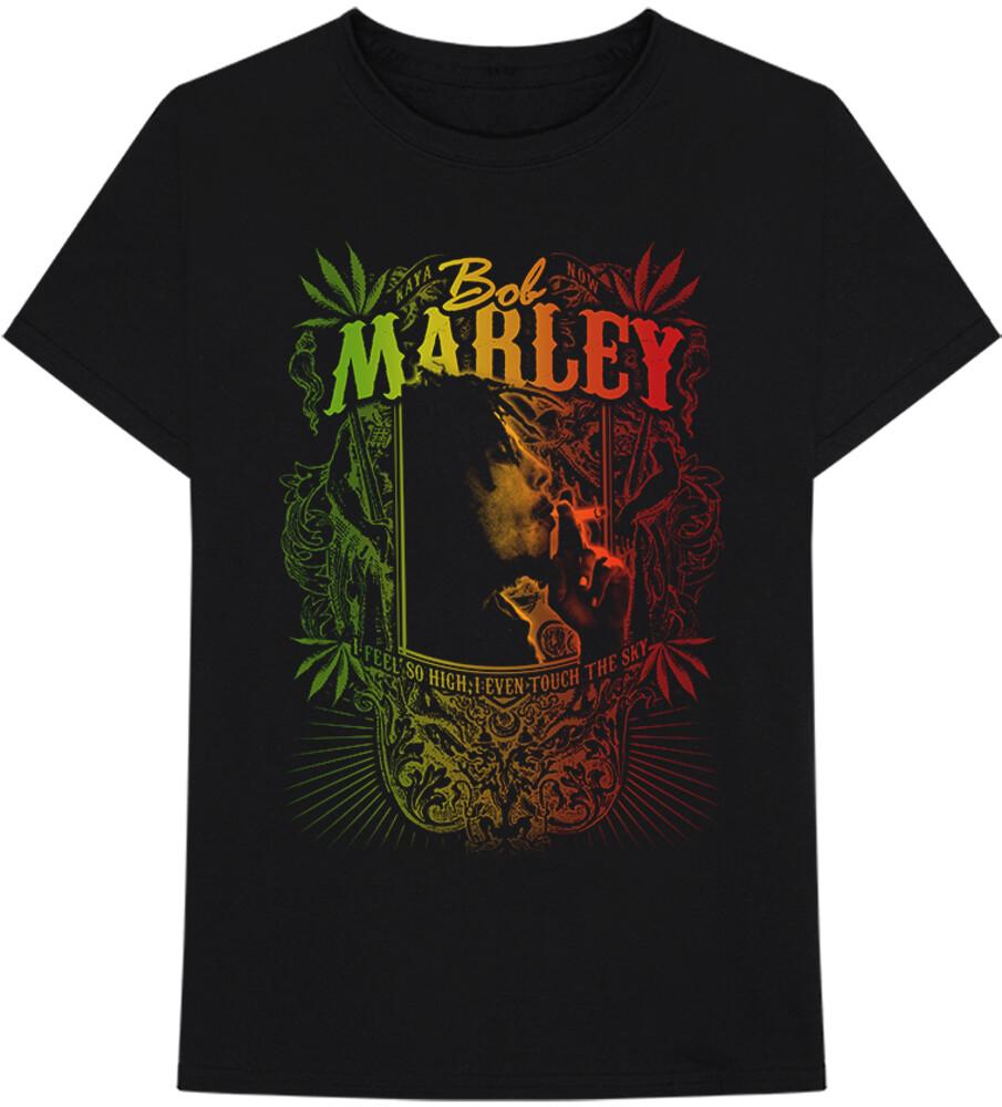 Bob Marley - Bob Marley Kaya Now Jumbo Black Unisex Short Sleeve T-shirt Medium