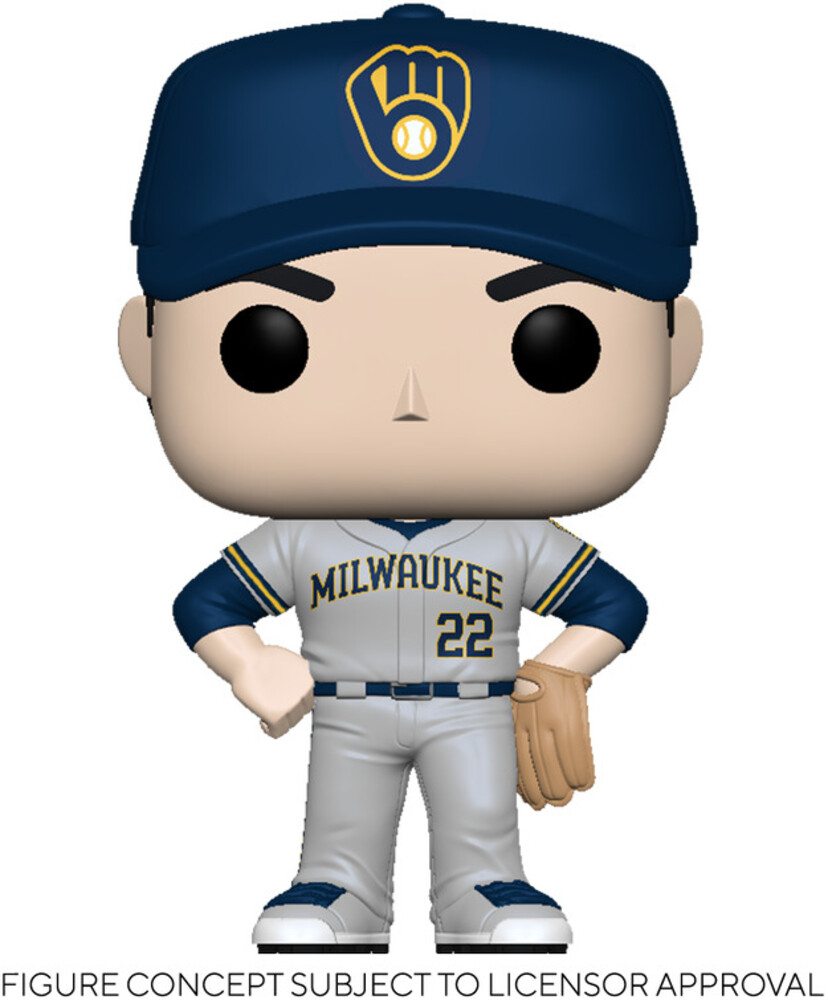 Funko Pop! MLB: - FUNKO POP! MLB: Brewers- Christian Yelich (Road Uniform)