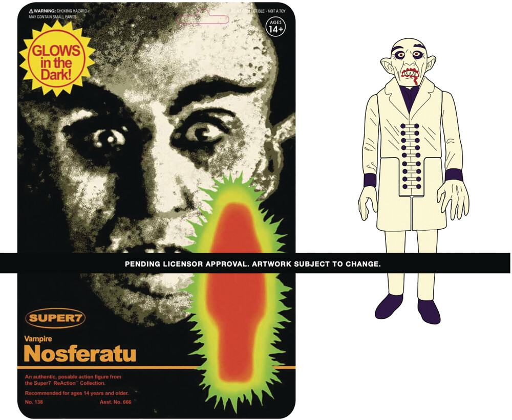 Nosferatu Reaction Figure - Monster Glow - Super7 - Nosferatu ReAction Figure - Monster Glow