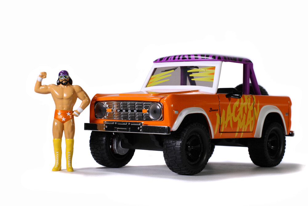 - Jada 1:24 Diecast 1973 Ford Bronco With Macho Man Figure