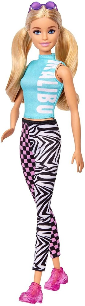 - Mattel - Barbie Fashionista, Blonde Hair with Malibu Dress and Leggings