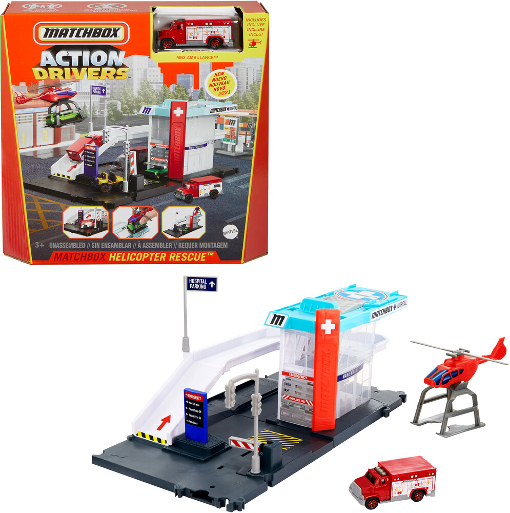 - Mattel - Matchbox Helicopter Rescue Playset