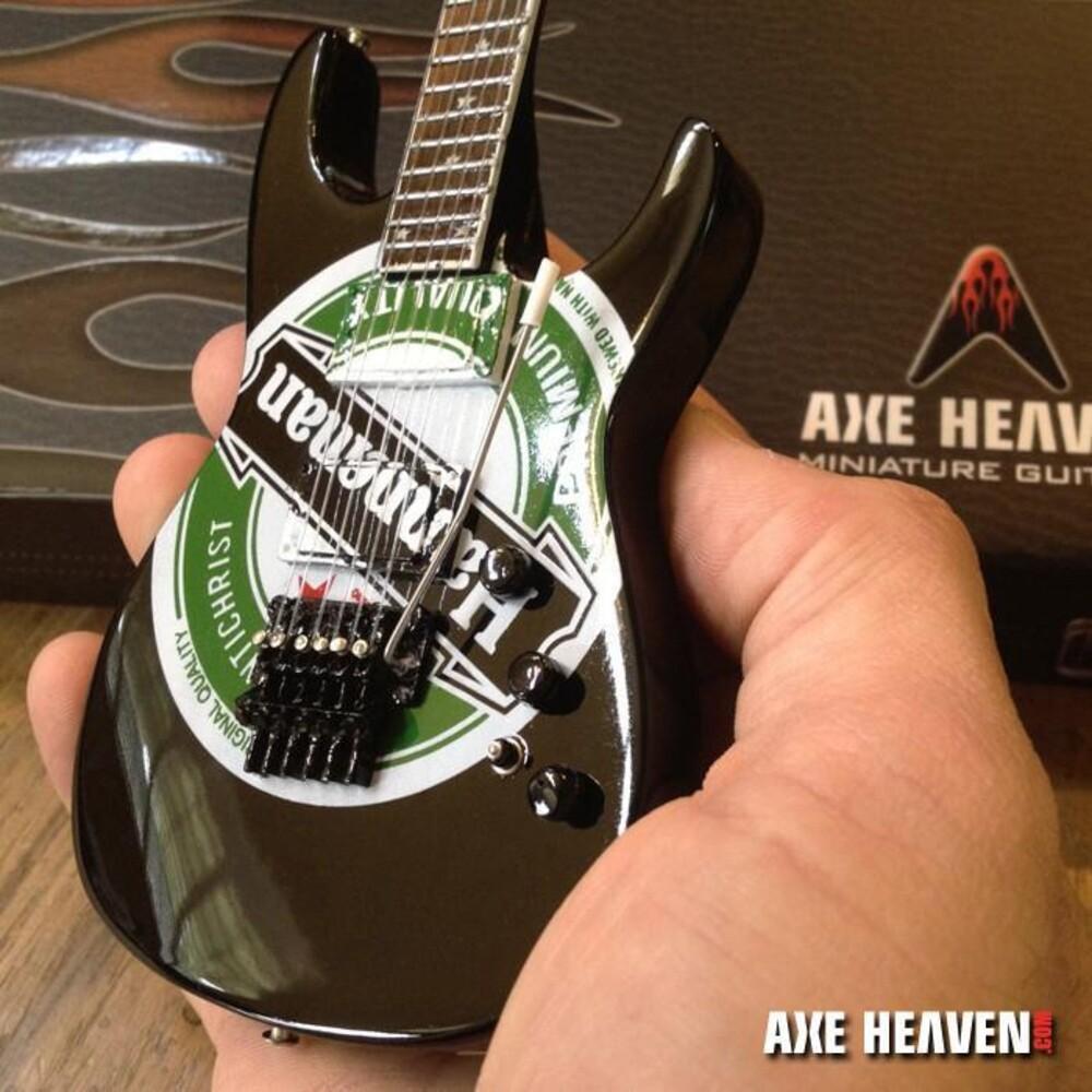 - Jeff Hanneman Slayer Heineken Logo Mini Guitar