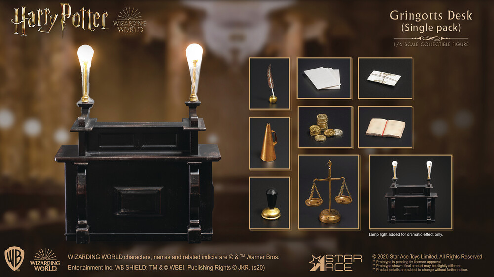 - Harry Potter Gringotts Desk 1/6 Af Accessory