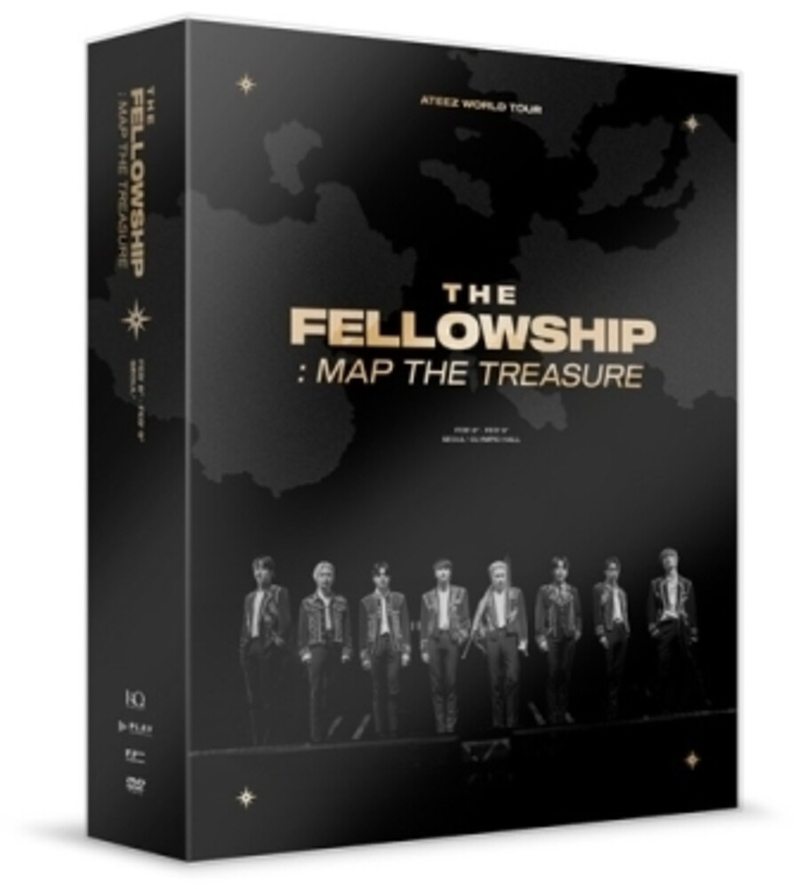 - Ateez World Tour The Fellowship: Map the Treasure Seoul DVD (incl. 148pg Photobook, 8pc Mini-Poster, Photocard + VR Cardboard)