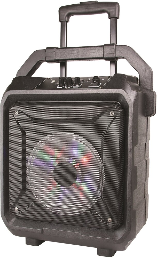 Supersonic Iq5508Djbtblk Bt 8in Tailgate Spkr Blk - Super Sonic IQ-5508DJBT-BLK Bluetooth Wireless 8 Inch Tailgate SpeakerRechargeable Battery LED Lights Includes Microphone and Re