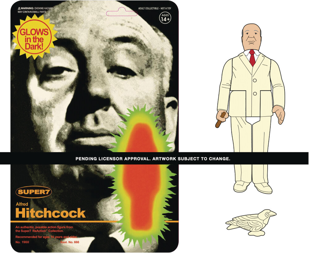 Alfred Hitchcock Reaction Figure - Monster Glow - Super7 - Alfred Hitchcock ReAction Figure - Monster Glow