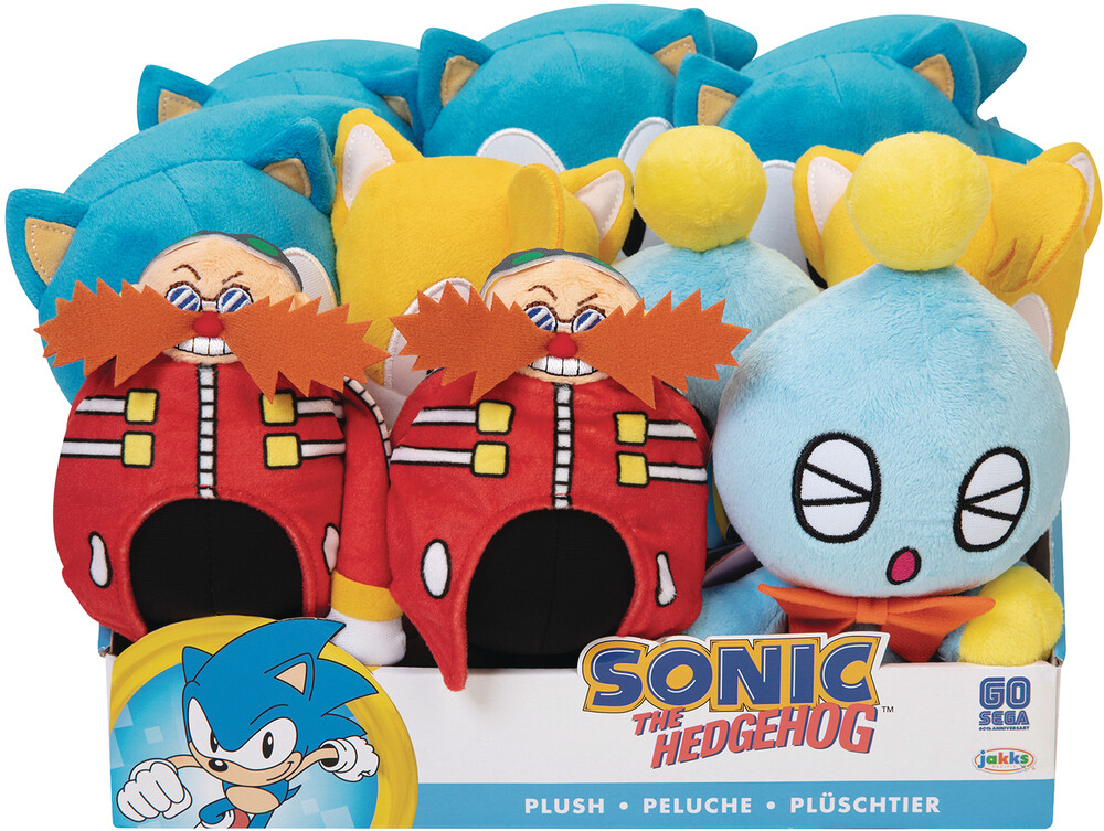 Jakks Pacific - JAKKS Pacific - Sonic The Hedgehog 7 Basic Plush Wave 4 Assortment(Net)