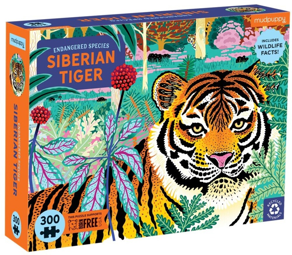 - Siberian Tiger Endangered Species 300 Piece Puzzle