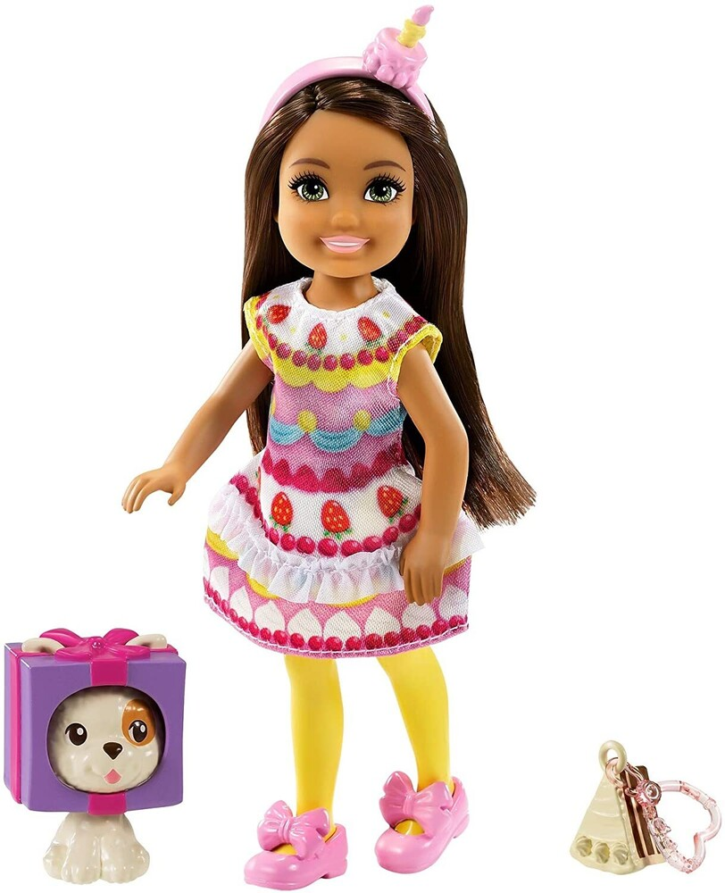 - Mattel - Barbie Club Chelsea, Cake Dress-Up Costume Doll with Pet